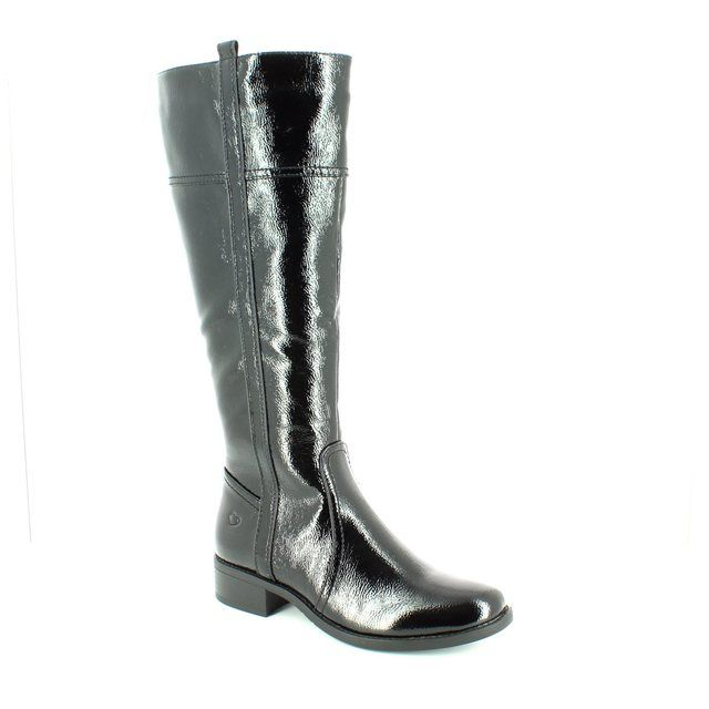 Heavenly Feet Capella 6008-40 Black patent knee-high boots