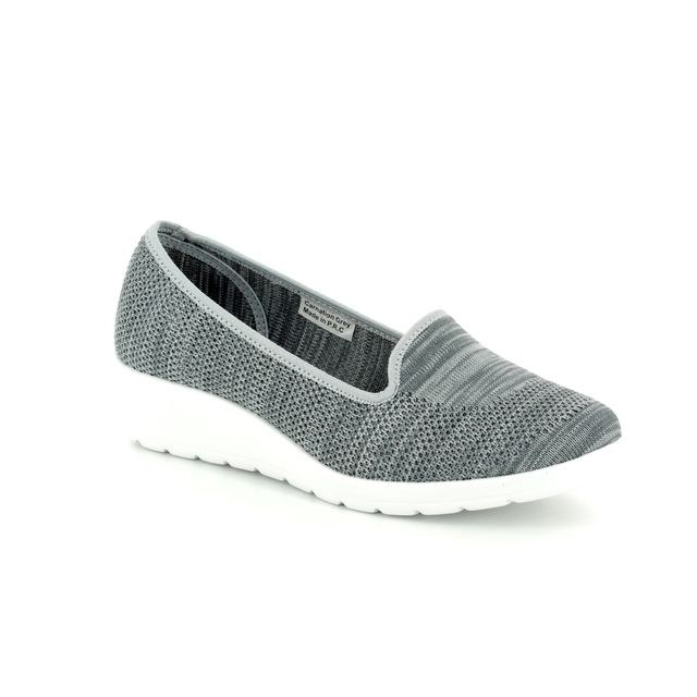 Heavenly Feet Wedge Shoes - Grey - 8125/00 CARNATION