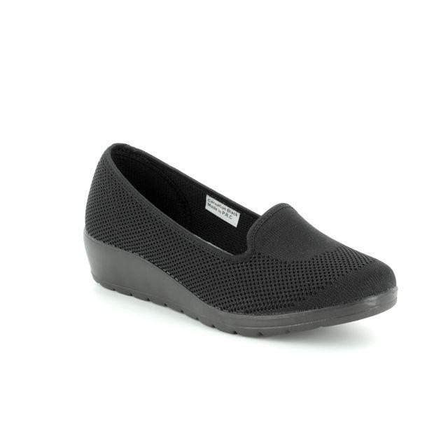 Heavenly Feet Wedge Shoes - Black - 8125/30 CARNATION