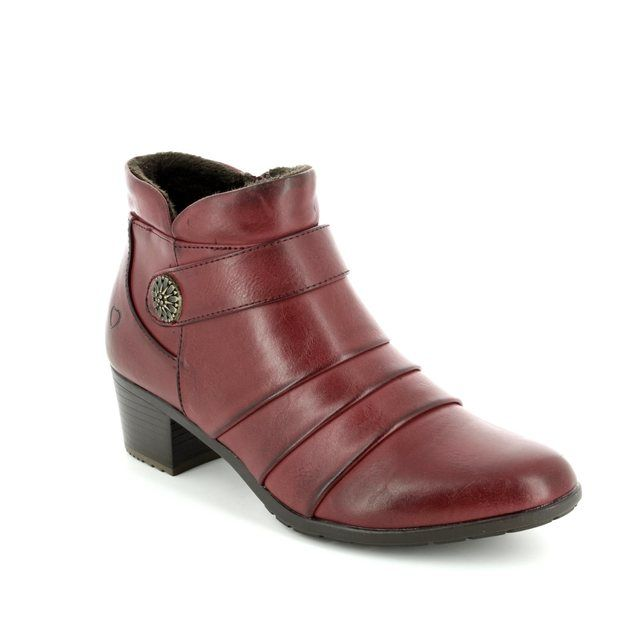 Heavenly Feet Claire 7205-80 Wine ankle boots
