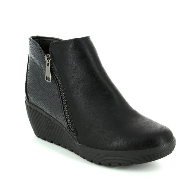 Heavenly Feet Wedge Boots - Black - 7208/30 DONEGAL