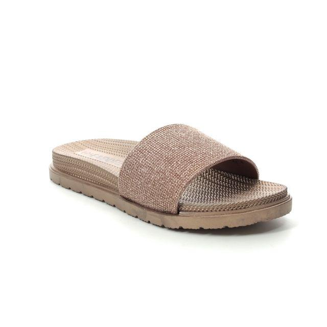 Heavenly Feet Dune 0114-60 Rose Slide Sandals