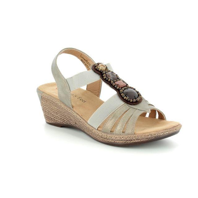 Heavenly Feet Estralla 8106-51 Pewter Espadrilles