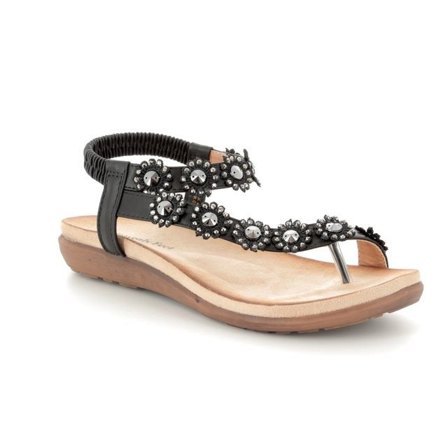 Heavenly Feet Sandals - Black - 8112/30 LULU