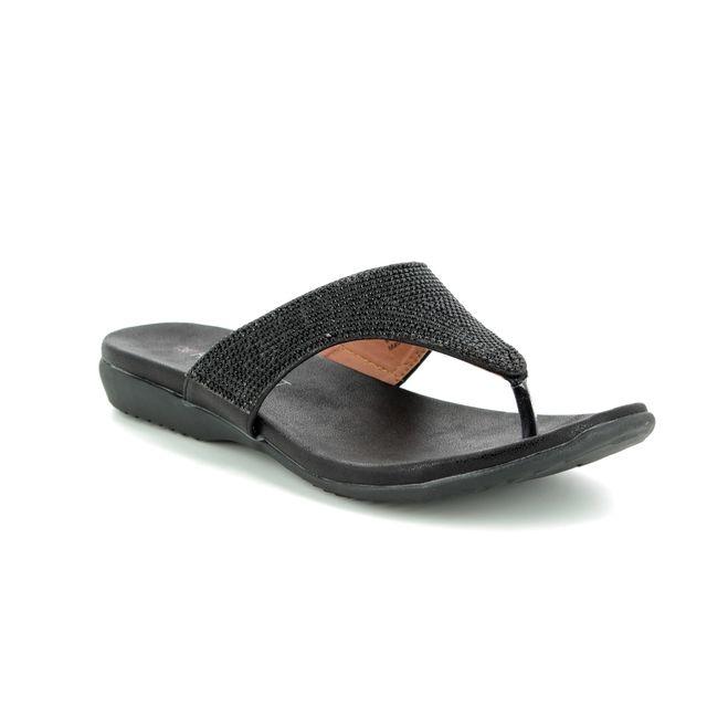 Heavenly Feet Toe Post Sandals - Black - 9127/30 MAISIE