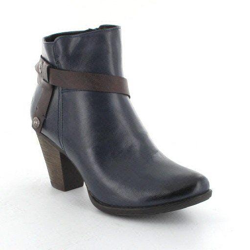 Heavenly Feet Mango 3003-70 Navy ankle boots