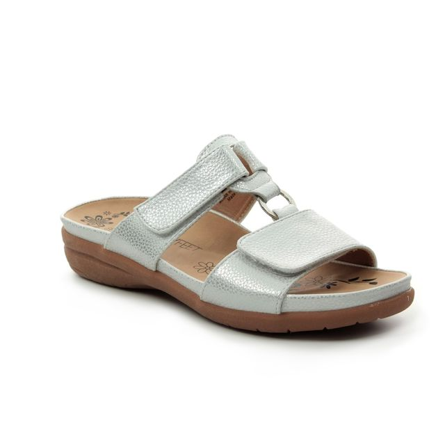 Heavenly Feet Slide Sandals - Silver - 9131/01 MEGAN