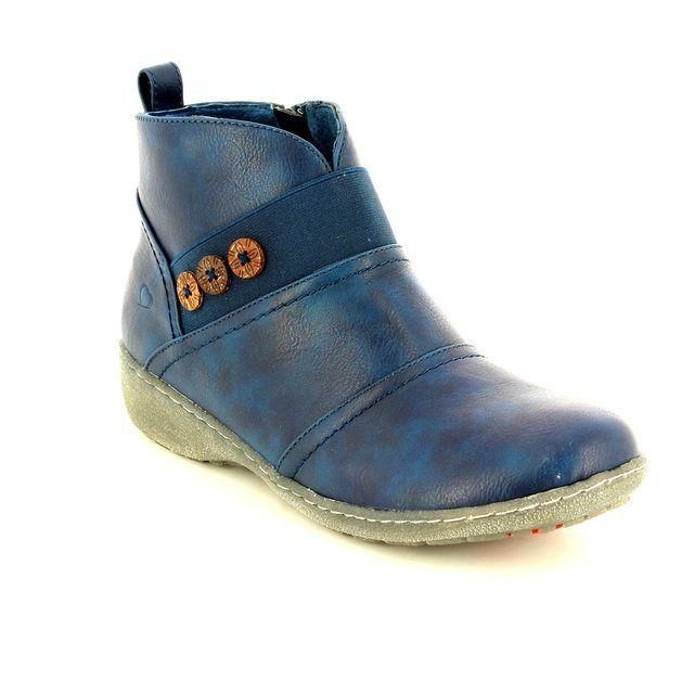 Heavenly Feet Melba 6004-70 Navy ankle boots