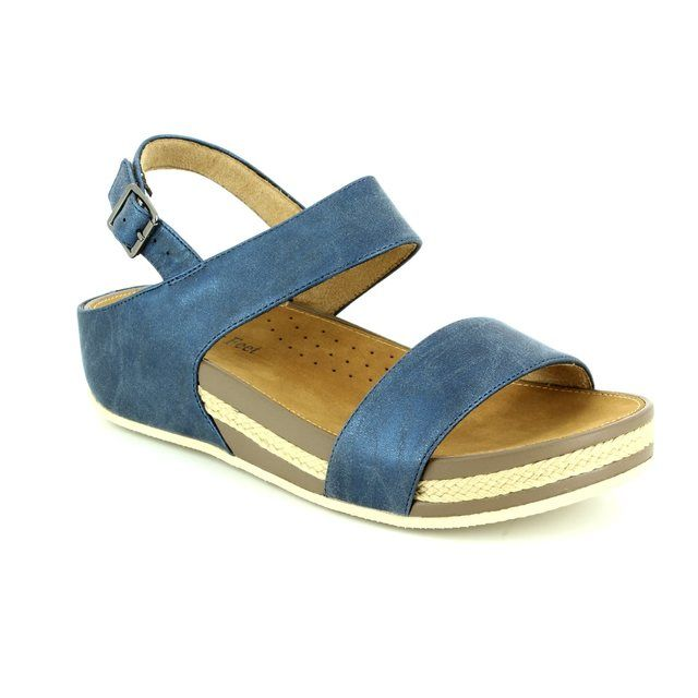 Heavenly Feet Nadia 7007-70 Navy sandals