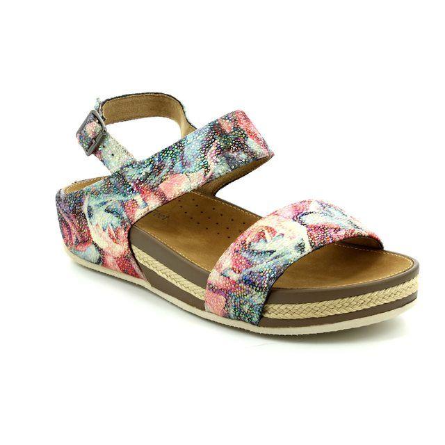 Heavenly Feet Nadia 7007-90 Floral print sandals