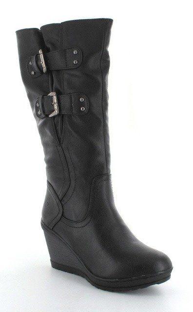 Heavenly Feet Nirvana 3 3009-30 Black knee-high boots
