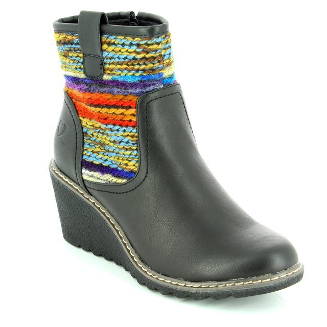 Heavenly Feet Philicia 6005-30 Black ankle boots