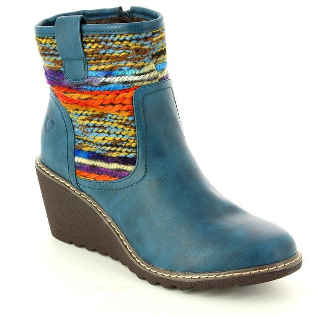 Heavenly Feet Philicia 6005-70 Blue ankle boots