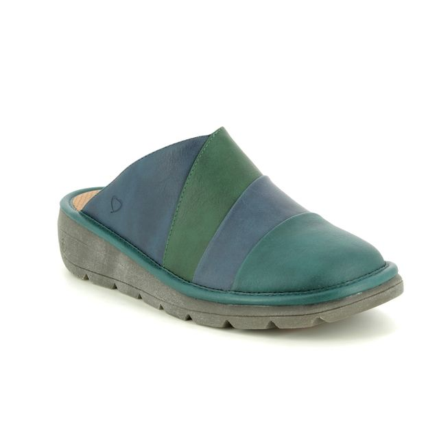 Heavenly Feet Slipper Mules - Turquoise multi - 9109/95 ROMA