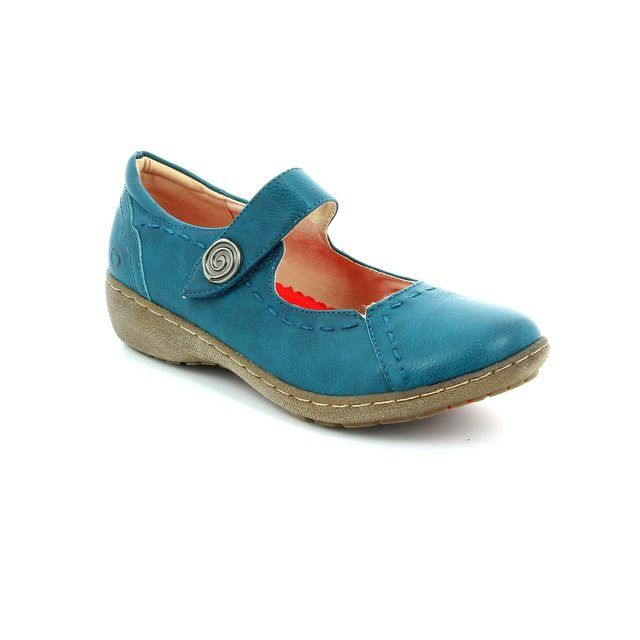 Heavenly Feet Scarlet 61 5005-70 Teal blue comfort shoes