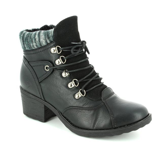 Heavenly Feet Scava 7214-30 Black ankle boots