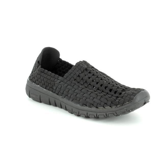 Heavenly Feet Trainers - Black - 7002/35 STOMP 71