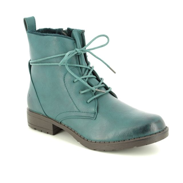 Heavenly Feet Strut 2 8513-73 Teal blue ankle boots