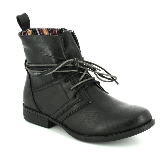 Heavenly Feet Ankle Boots - Black - 6006/30 STRUT