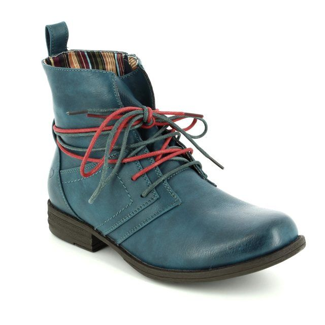 Heavenly Feet Ankle Boots - Teal blue - 6006/70 STRUT