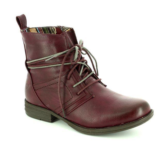Heavenly Feet Ankle Boots - Plum - 6006/90 STRUT