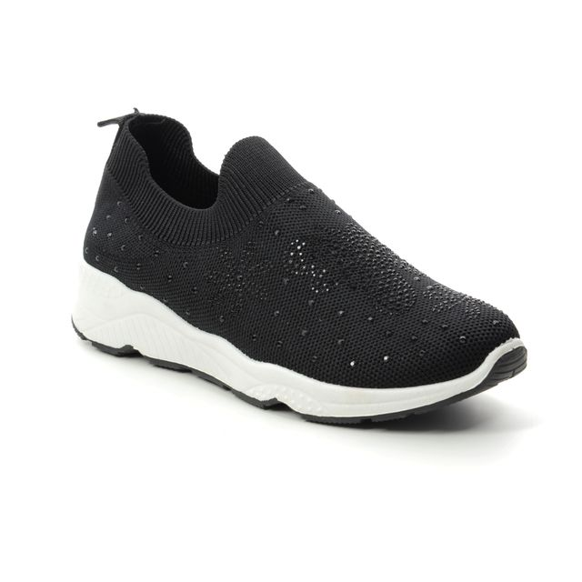 Heavenly Feet Trudy 9128-30 Black trainers