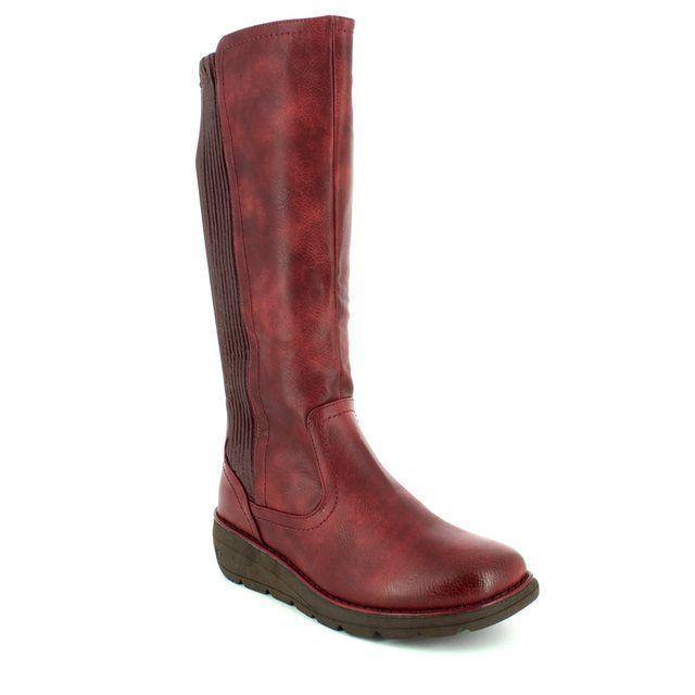 Heavenly Feet Knee-high Boots - Wine - 7224/80 URSULA