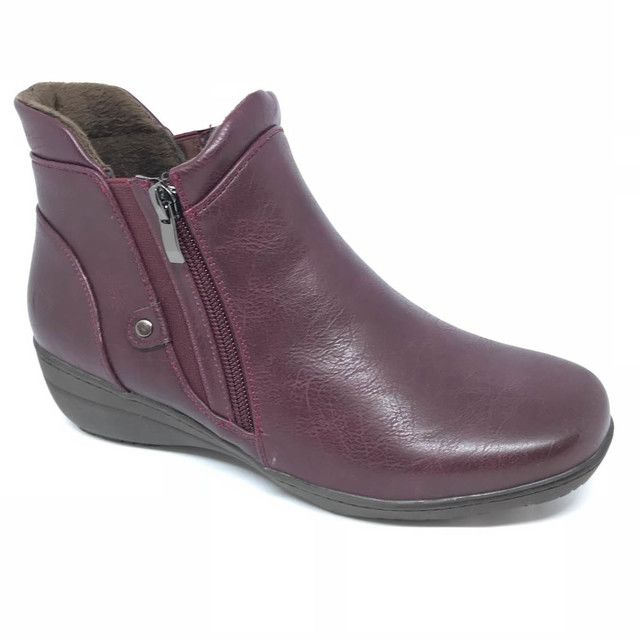 Heavenly Feet Ankle Boots - Wine - 8515/81 VENICE