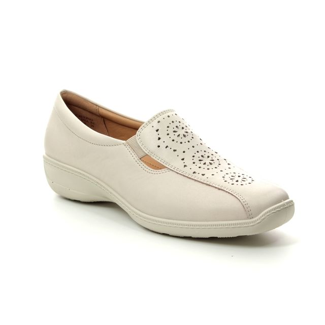 Hotter Comfort Slip On Shoes - Beige leather - 9101/53 CALYPSO 91 E