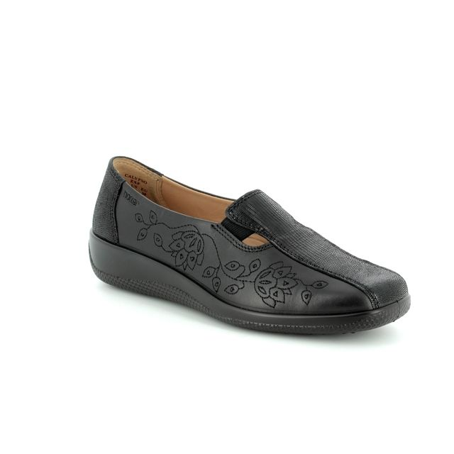 Hotter Comfort Shoes - Black - 8101/30 CALYPSO EE FIT