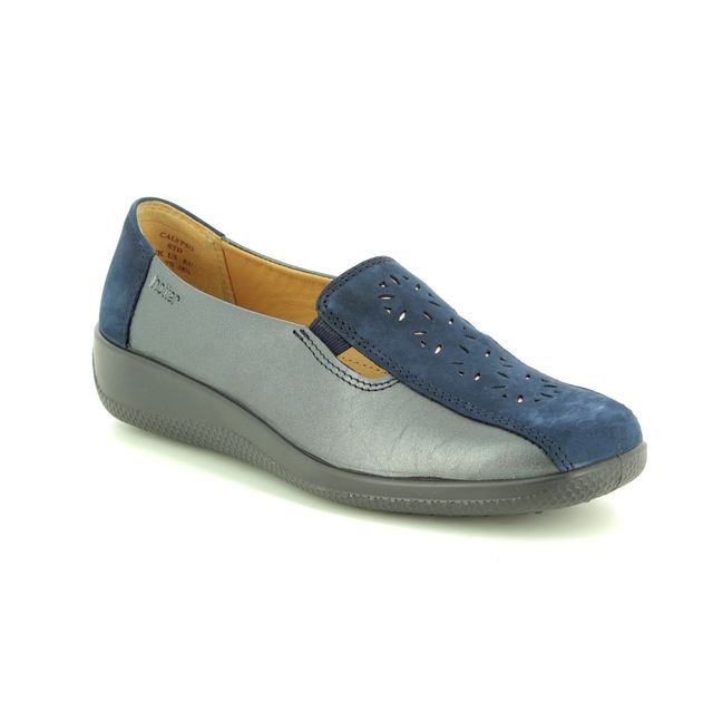 Hotter Comfort Shoes - Navy leather - 8501/70 CALYPSO NEW E