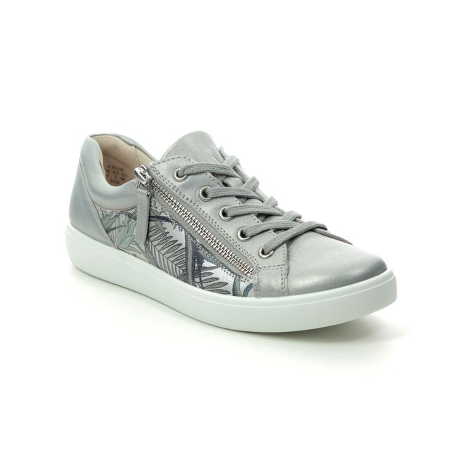 Hotter Lacing Shoes - Silver Leather - 0111/01 CHASE  E FIT