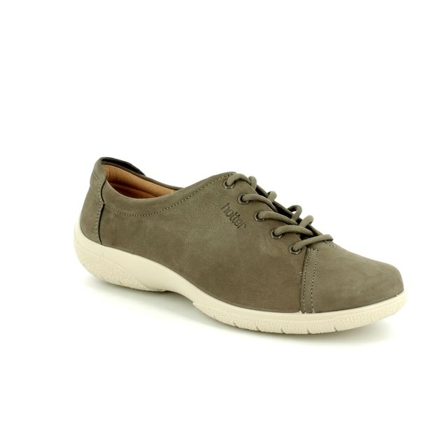 Hotter Lacing Shoes - Dark taupe - 7206/50 DEW E FIT