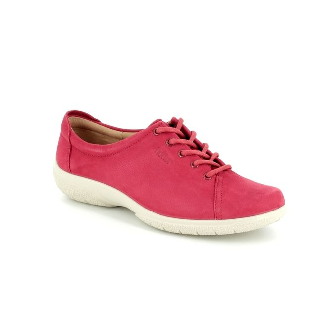 Hotter Lacing Shoes - Red nubuck - 7206/80 DEW E FIT