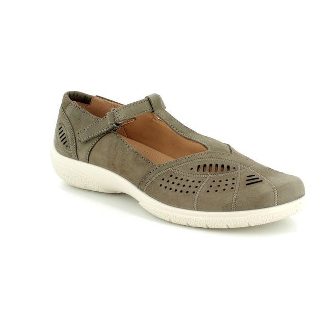 Hotter Comfort Shoes - Stone - 8104/53 GRACE E FIT
