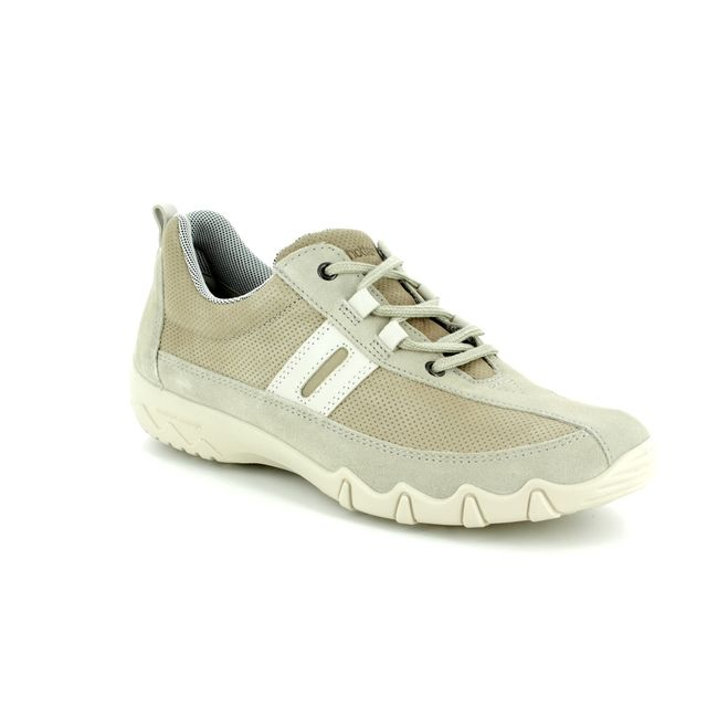 Hotter Lacing Shoes - Beige nubuck - 7201/53 LEANNE E FIT