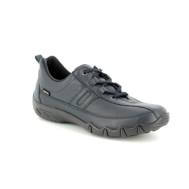 Hotter Lacing Shoes - Navy - 7201/71 LEANNE GORE-TEX