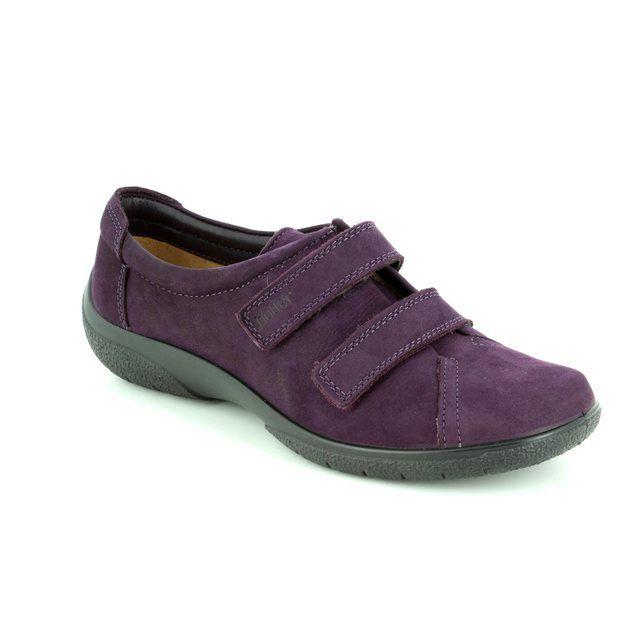 Hotter Lacing Shoes - PLUM - 7207/90 LEAP