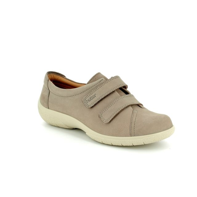 Hotter Lacing Shoes - Beige nubuck - 7207/53 LEAP E FIT