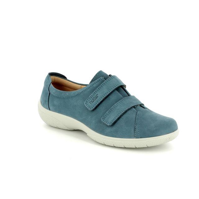 Hotter Lacing Shoes - Blue nubuck - 7207/72 LEAP E FIT