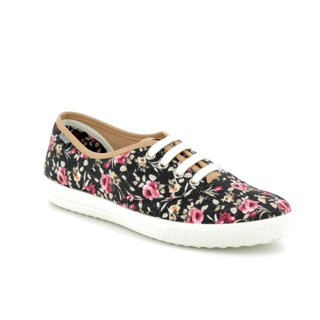 Hotter Trainers - Black fabric - 8112/32 MABEL E FIT