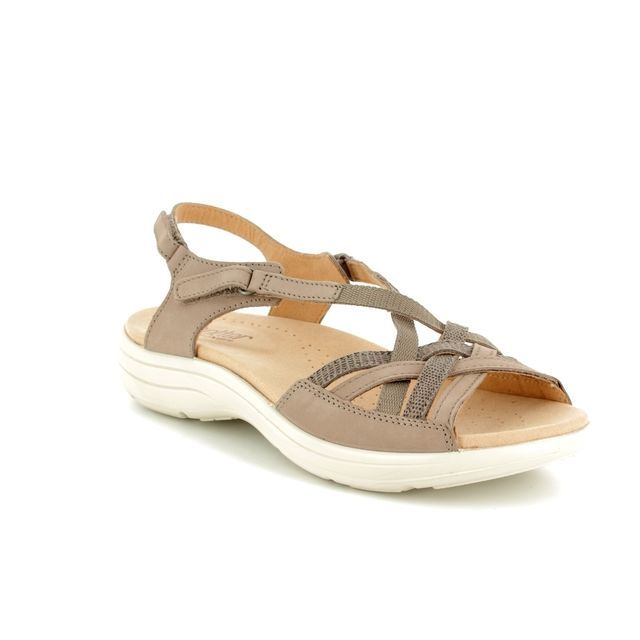 Hotter Sandals - Taupe nubuck - 8109/53 MAISIE E FIT