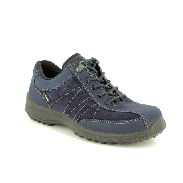 Hotter Walking Shoes - Navy leather - 8517/70 MIST GTX E FIT