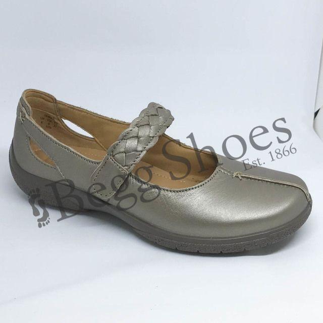 Hotter Mary Jane Shoes - Metallic - 8111/01 SHAKE E FIT