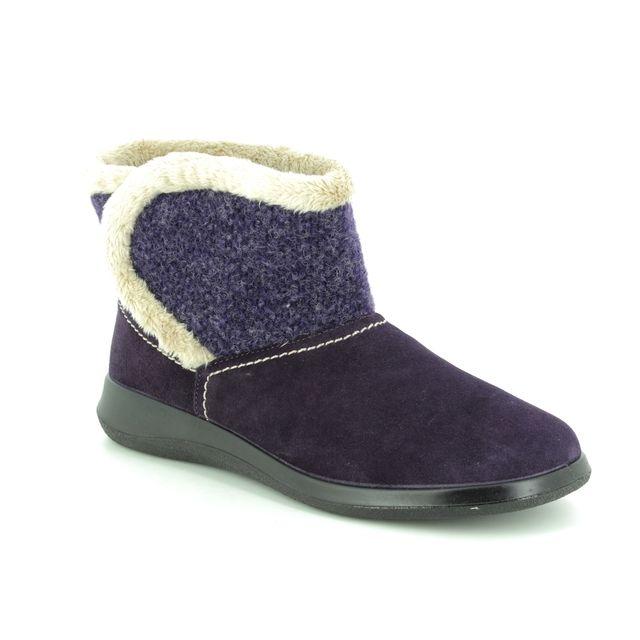 Hotter Slippers - Purple multi - 8513/95 SNUG   E FIT