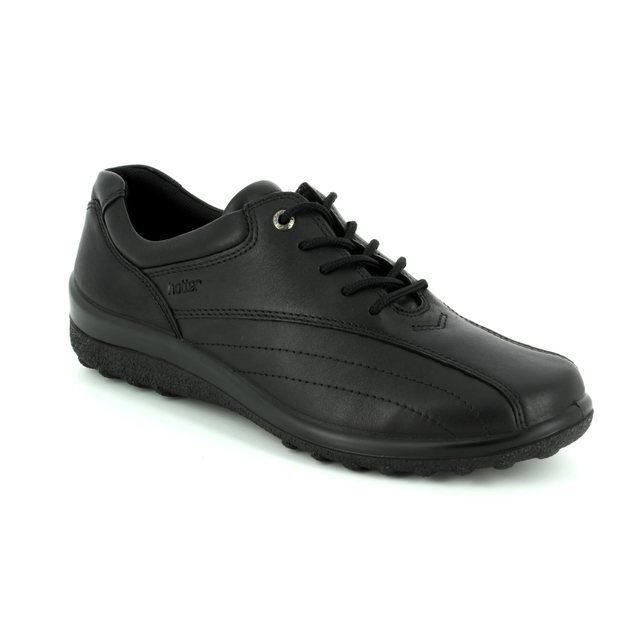 Hotter Lacing Shoes - Black - 7208/30 TONE