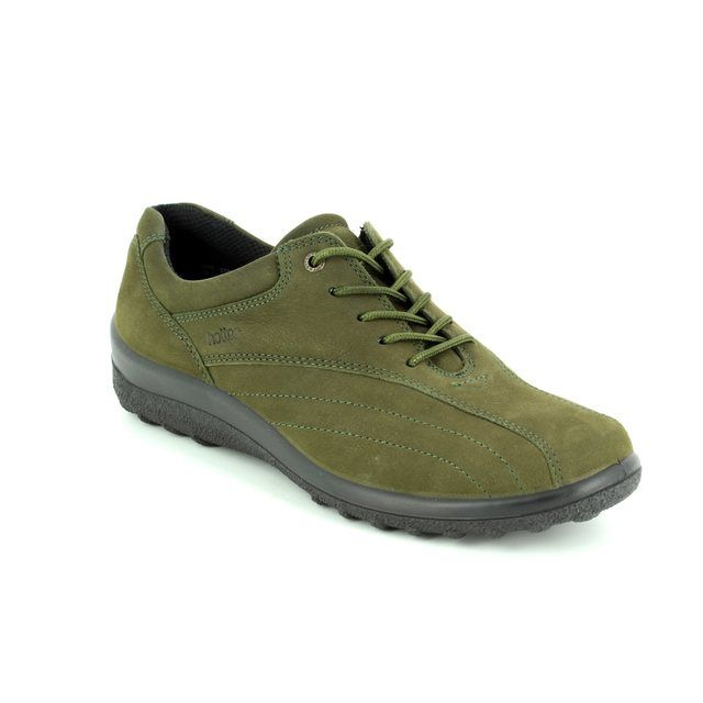 Hotter Lacing Shoes - Green Nubuck - 7208/90 TONE