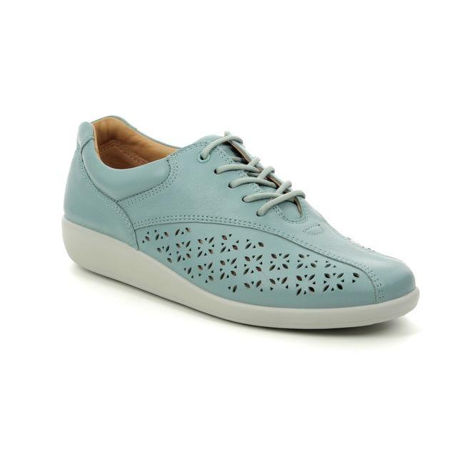 Hotter Lacing Shoes - Aqua leather - 9106/72 TONE   91 E FIT