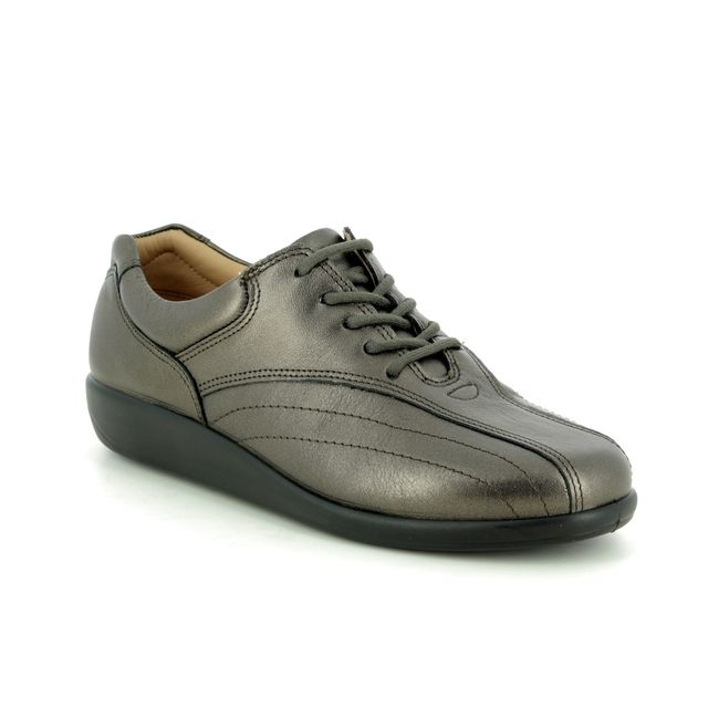 Hotter Lacing Shoes - Pewter - 9506/51 TONE   95 E FIT