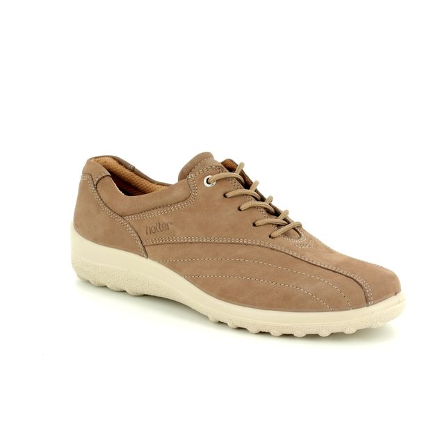 Hotter Lacing Shoes - Taupe nubuck - 7208/50 TONE E FIT